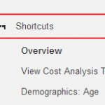 Shortcuts in Google Analytics: Straight to your Reports