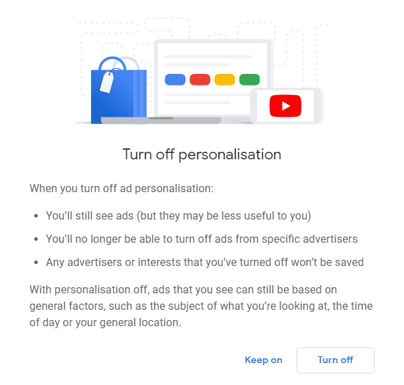 Switch Off Ads Personalisation