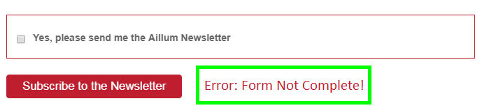 Form submit failure.