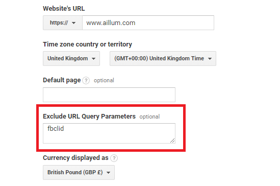 Exclude Query Parameter
