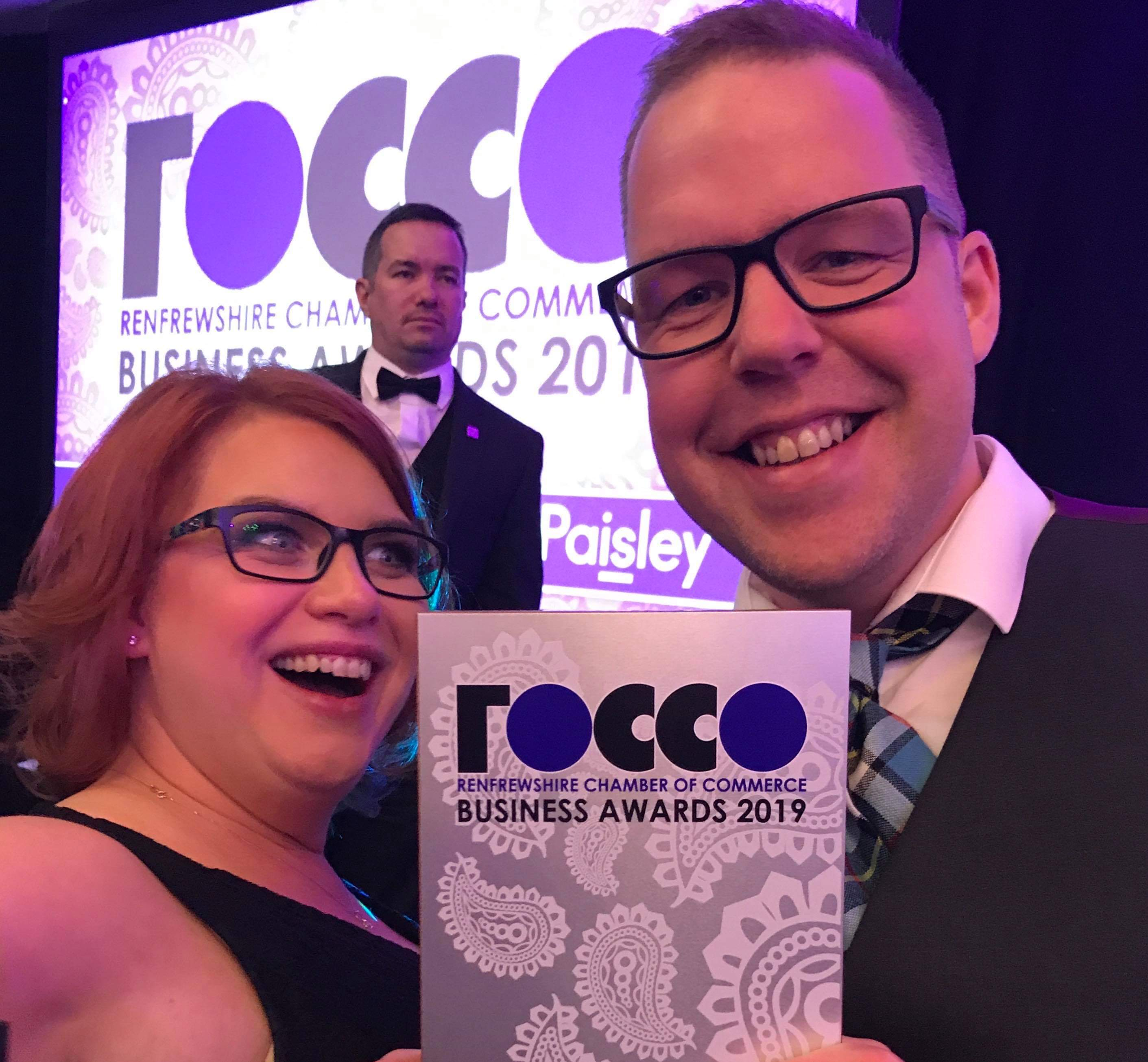 Brian & Emma representing Aillum at the ROCCOs