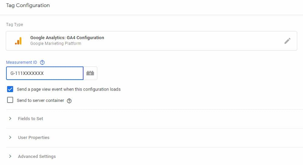 GA4 Configuration Tag Setup