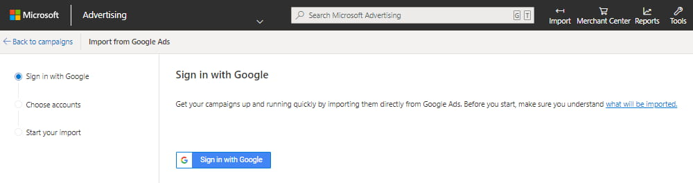Importing From Google Ads